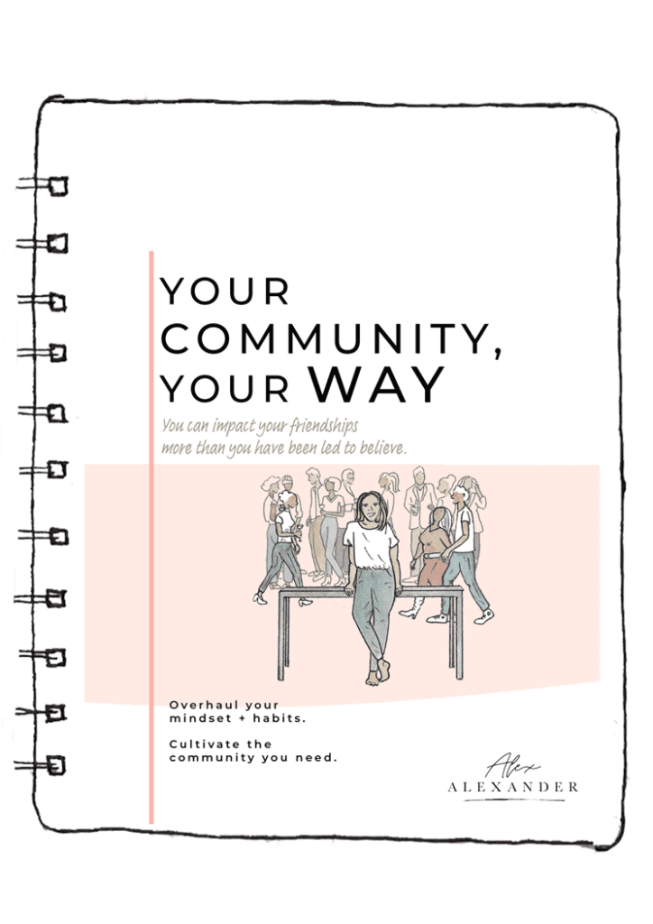 Your Community, Your Way - The Workbook Cover on a drawn notebook